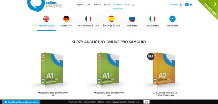 Výběr kurzu onlinejazyky