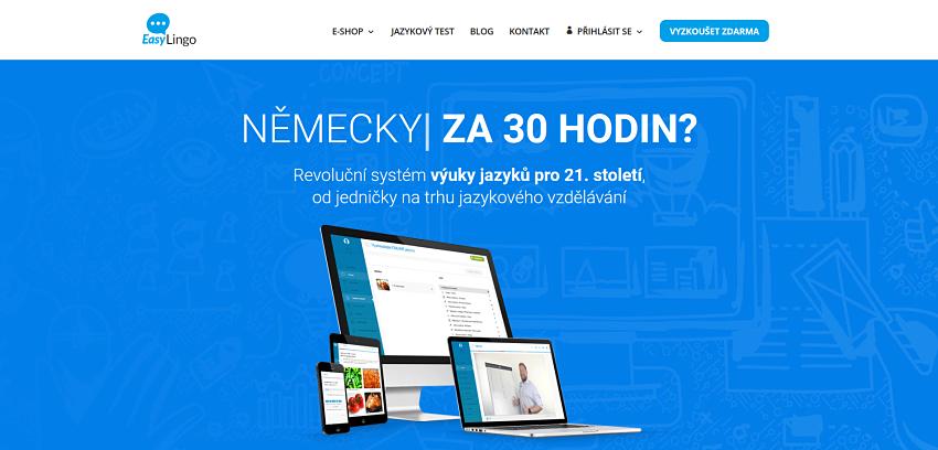 Úvodní stránka Easylingo.cz