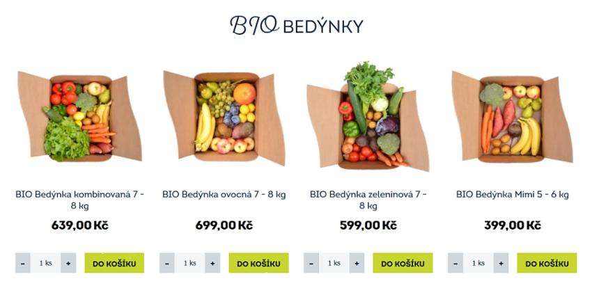 Ukázka sortimentu FreshBedynky.cz