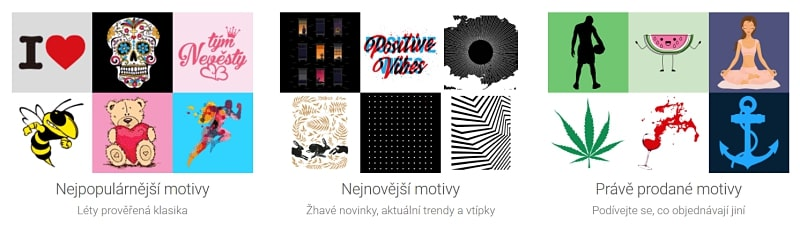 Inspirace a předpřipravené motivy na Belabel.cz - ukázka